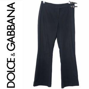 Details about  /$650 Dolce /& Gabbana Women/'S Black Straight-Leg Casual Khaki Pants Size 2